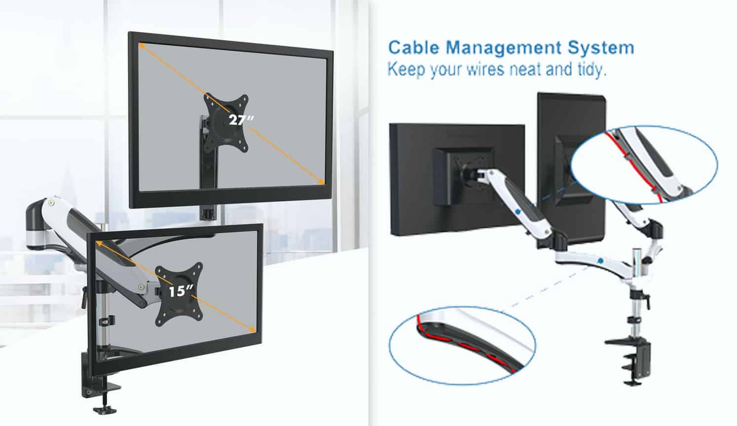 Adjustable Monitor Stand as the third related product of the Best Monitor Mount