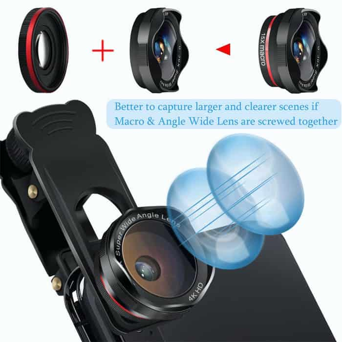 Third close looking view of Cell Phone Camera Lens