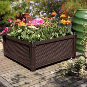 The position of Patio Planter Box in garden is an introduction to the elegant mood