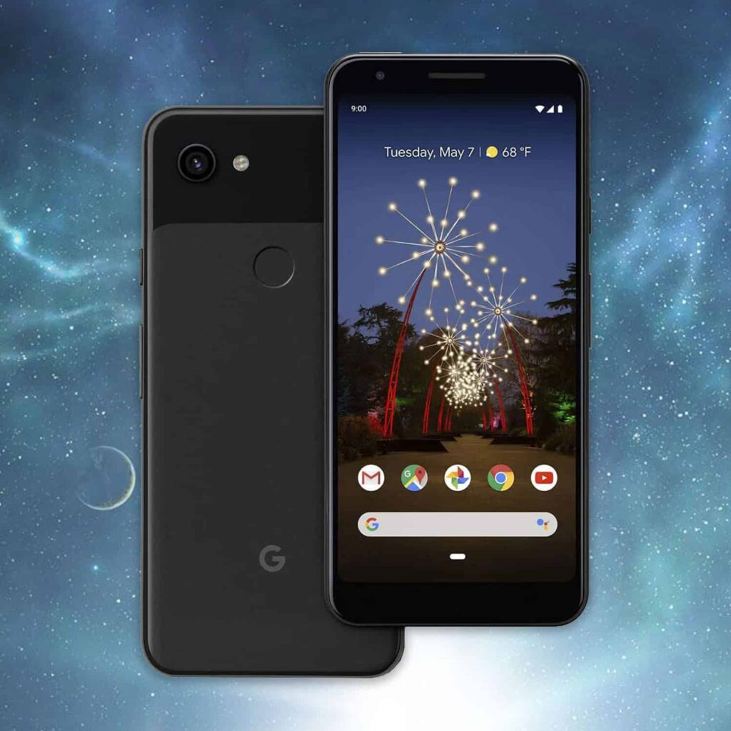 A mobile phone with displayed front and rear side as the best unlocked smartphone